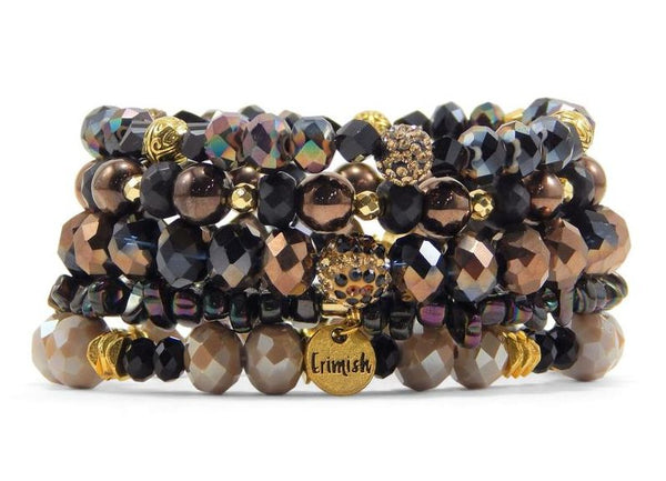 Erimish 'Leopard' Stretch Bracelets - Assorted Colors