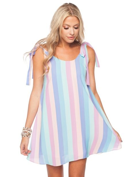 'Kerr' Tie Strap Dress in Candy Paint Print by Buddy Love