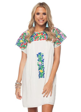 'Greek' Dress in Multi Print by Buddy Love