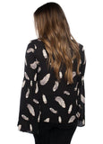 'Henry' Top in Quail Print by Buddy Love