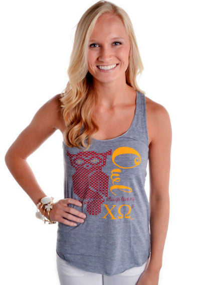 "Judith March ""Owl Always Love My Chi O's"" Tank Top"