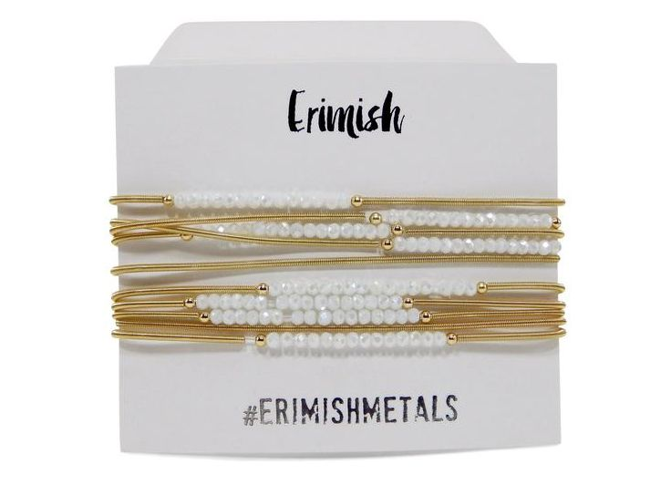"Erimish Gold ""Slinky"" Set in White"