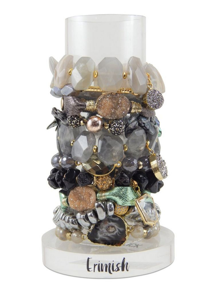 "Erimish Embellished ""Magic"" Stretch Bracelets"