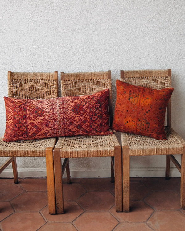 Story of Source Nahuala Rust Square and Lumbar Cushions