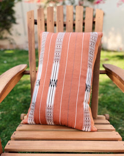 Story of Source Striped Terracotta Cushion