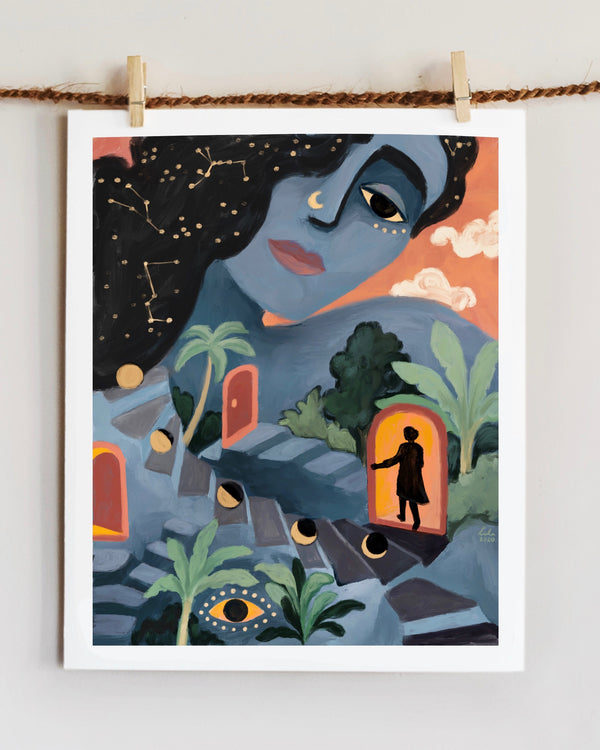 Vital Investigation Print by Richa Kashelkar  hung up