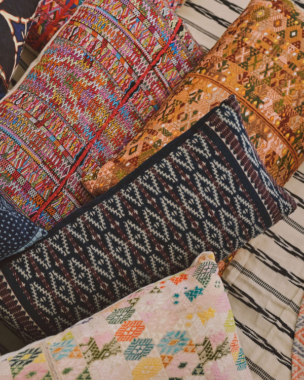 Story of Source Wohepi Lumbar ikat cushion from Indonesia