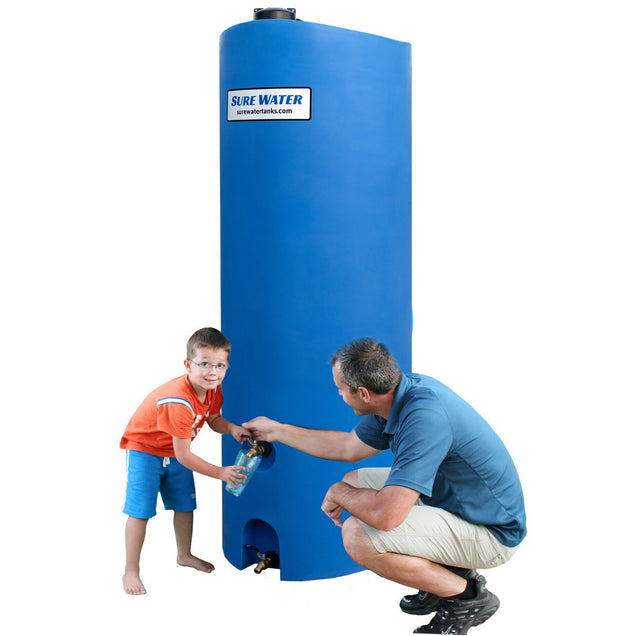 260 Gallon Emergency Water Storage Tank (Blue) - Sure Water