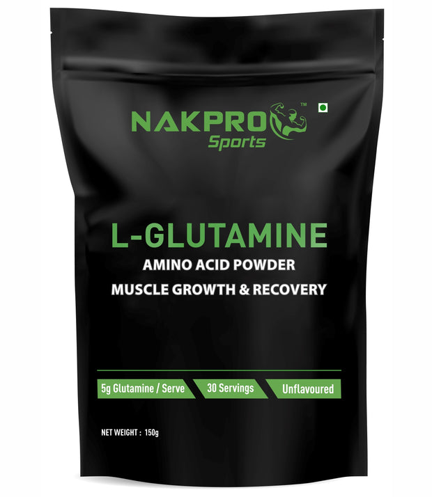 Nakpro Sports Advance L-Glutamine Powder - Unflavoured