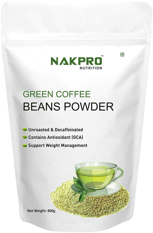 NAKPRO NUTRITION GREEN COFFEE BEANS POWDER