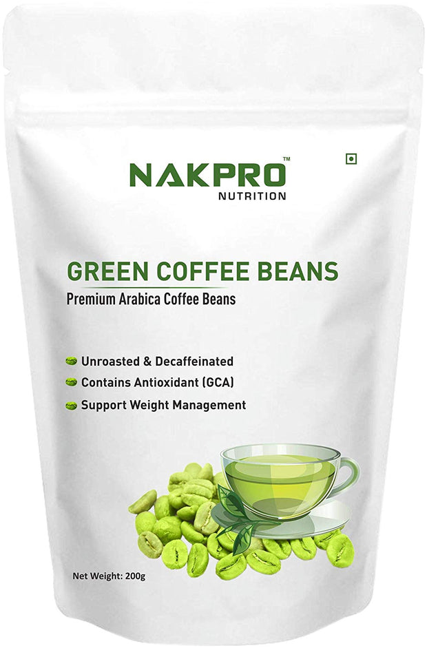 Nakpro Nutrition Green Coffee Beans for Weight Loss, Premium Arabica Grade AA