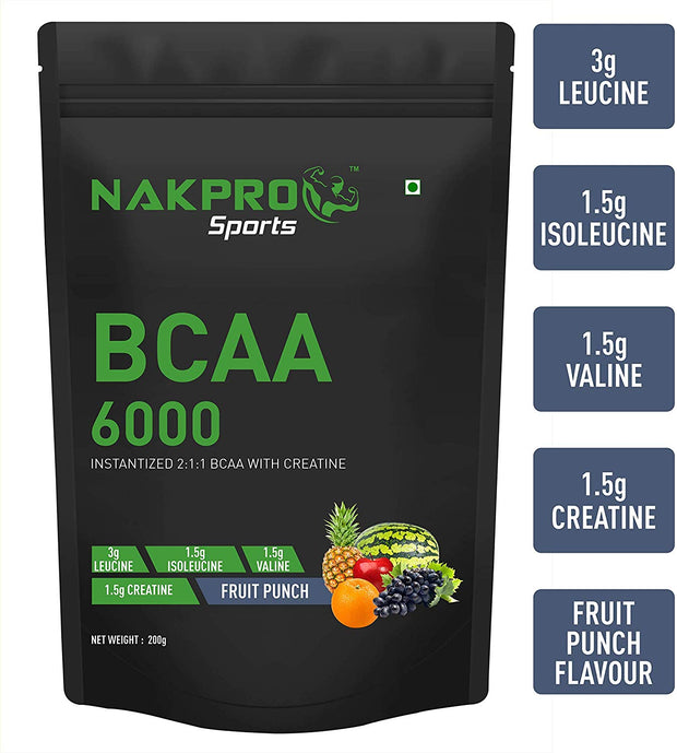 NAKPRO BCAA  Fruit Punch - 200g