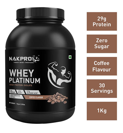 nakpro whey protein isolate coffee