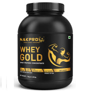NAKPRO GOLD Whey Protein Concentrate 80% (Raw, Pure, Unflavored USA Made) -