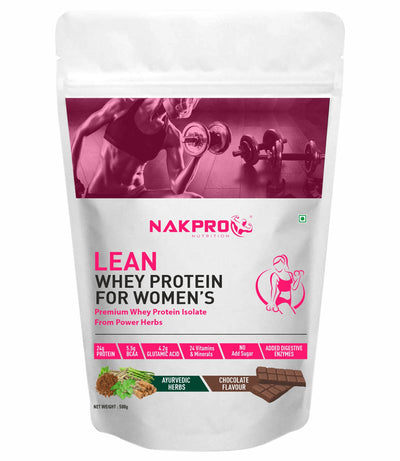 NAKPRO Lean Whey Protein & Herbs, Whey Protein for Women