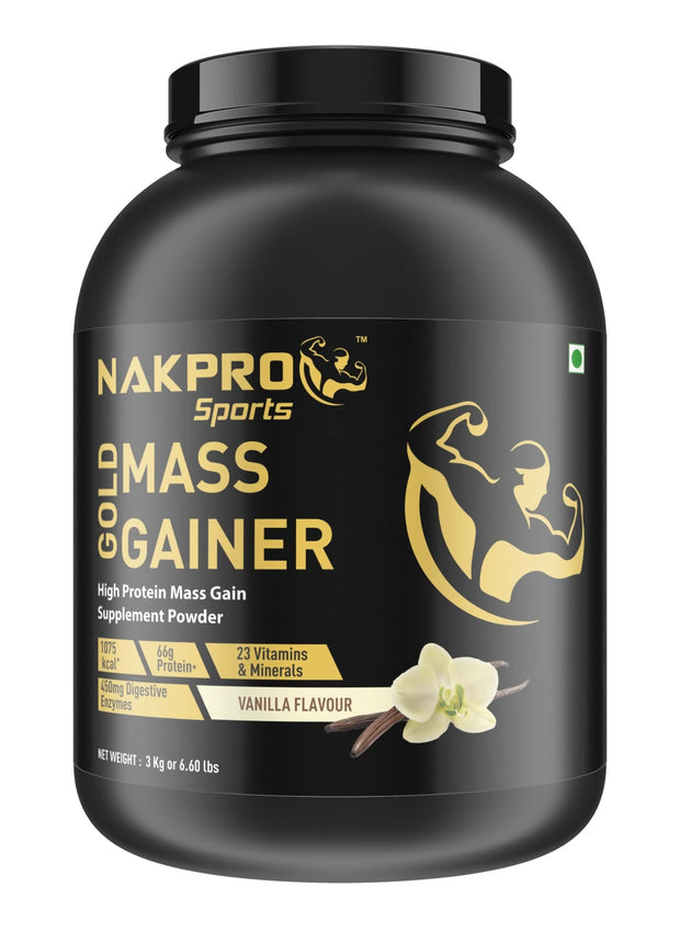 Nakpro Sports Gold Mass Gainer  - Strawberry