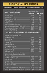 NAKPRO Nutrition whey protein concentrate whey protein powder nutritional information