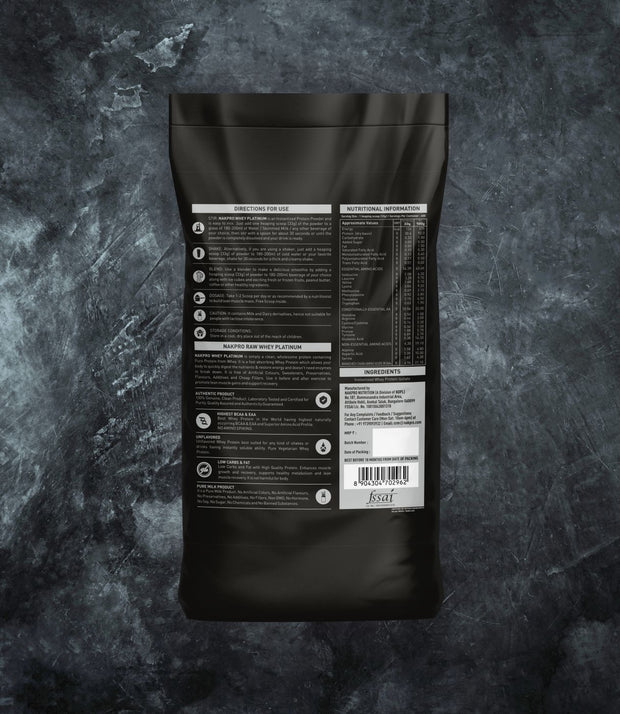 NAKPRO Nutrition whey isolate protein 20kg additional information