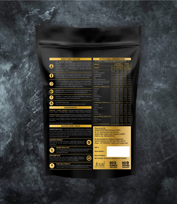 NAKPRO Nutrition whey protein concentrate whey protein powder additional information