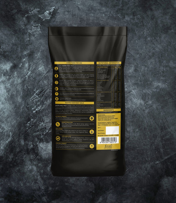 NAKPRO Nutrition whey gold concentrate whey protein powder additional information