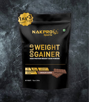 NAKPRO GOLD WEIGHT GAINER CHOCOLATE 3KG
