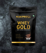 NAKPRO Nutrition whey gold concentrate whey protein powder 1 Kg chocolate