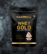 NAKPRO Nutrition whey gold concentrate whey protein powder 1 Kg cream chocolate
