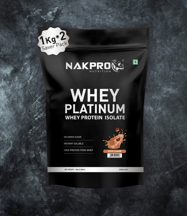 NAKPRO Nutrition whey protein isolate 2 kg coffee