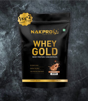 NAKPRO Nutrition whey gold concentrate whey protein powder 2 Kg coffee