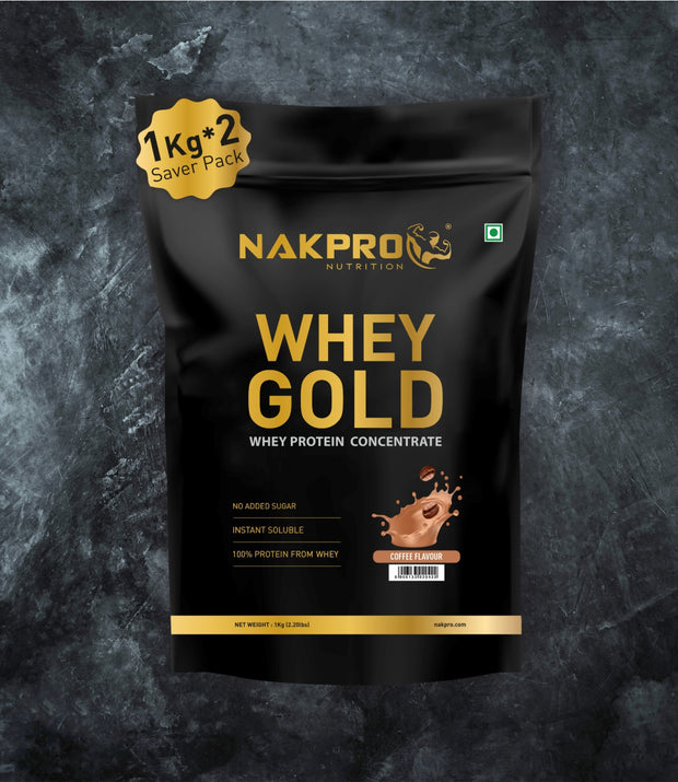 NAKPRO Nutrition whey protein concentrate whey protein powder 2 Kg coffee
