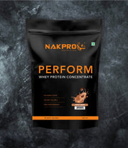 NAKPRO Nutrition Coffee flavored Perform whey protein powder in 1 kg pack