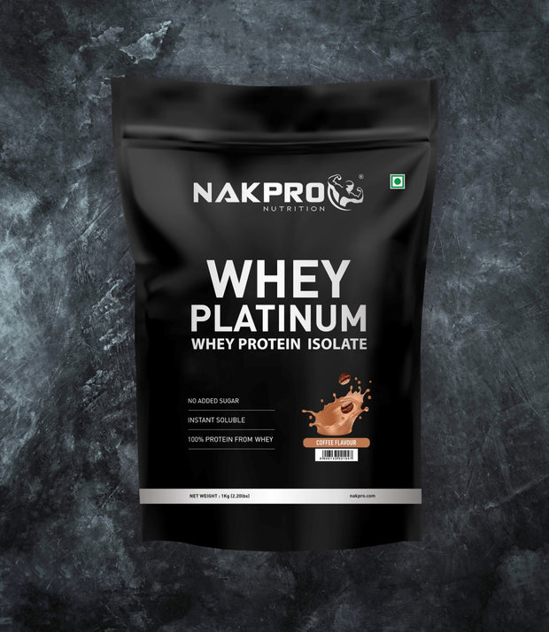 NAKPRO Nutrition whey protein isolate 1kg coffee