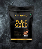 NAKPRO Nutrition whey gold concentrate whey protein powder 1 Kg coffee