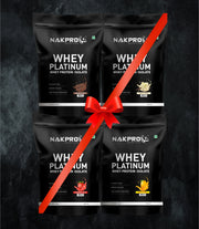NAKPRO Nutrition whey protein isolate 2 kg flavor combo