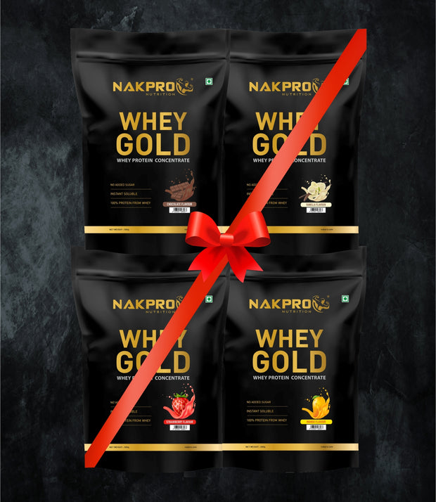 NAKPRO Nutrition whey protein concentrate whey protein powder 2 Kg flavor combo