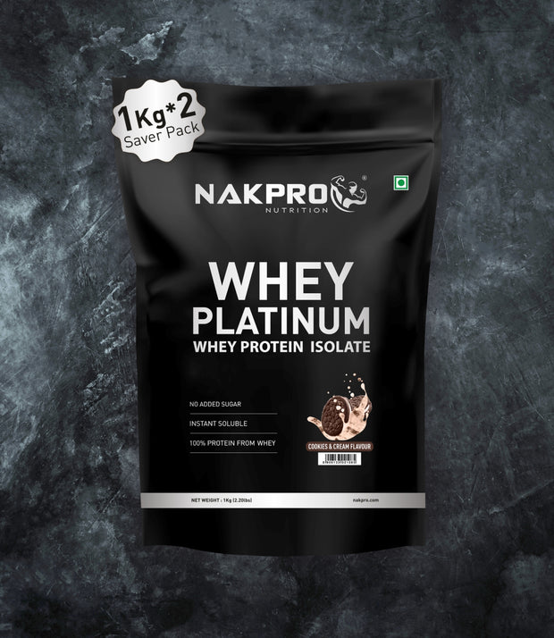 NAKPRO Nutrition whey protein isolate 2 kg cookies & cream