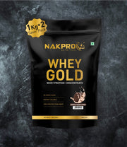 NAKPRO Nutrition whey protein concentrate whey protein powder 2 Kg cookies & cream
