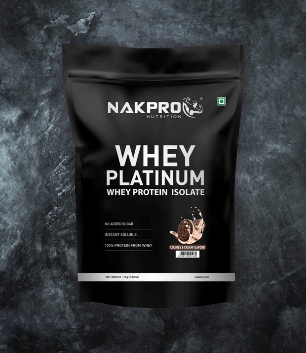 NAKPRO Nutrition whey protein isolate 1 kg cookies & cream