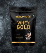 NAKPRO Nutrition whey gold concentrate whey protein powder 1 Kg cookies & cream