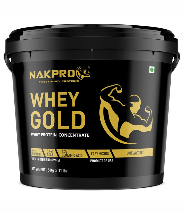 Nakpro Platinum 100% Whey Protein Isolate with Digestive Enzymes, Whey Protein Supplement Powder from USA - Vanilla