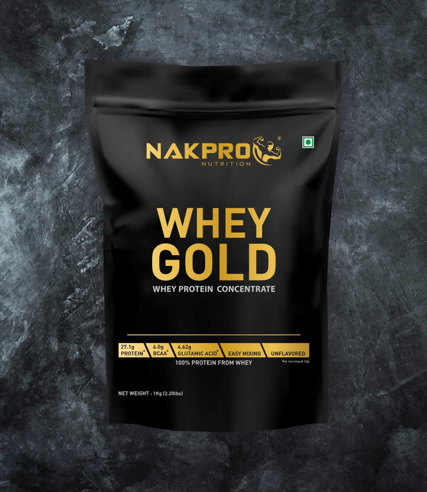 NAKPRO Nutrition whey protein concentrate whey protein powder 1 Kg unflavored