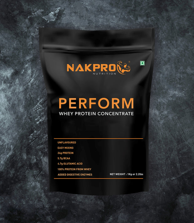 NAKPRO Nutrition Perform whey protein powder 1 Kg unflavored