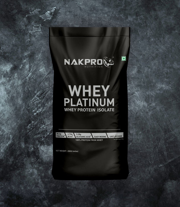 NAKPRO Nutrition whey protein isolate 20 kg unflavored