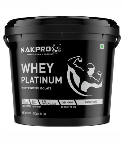 Nakpro Whey Platinum Whey Protein Isolate - Unflavored /