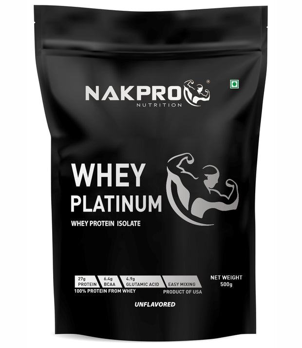 H- NAKPRO Nutrition WHEY PLATINUM Whey Protein Isolate -