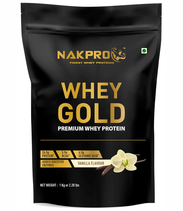 Nakpro Whey Gold Whey Protein Concentrate - Vanilla