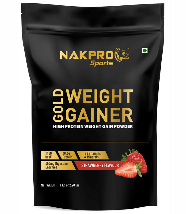 Nakpro Sports Gold Weight Gainer - Strawberry