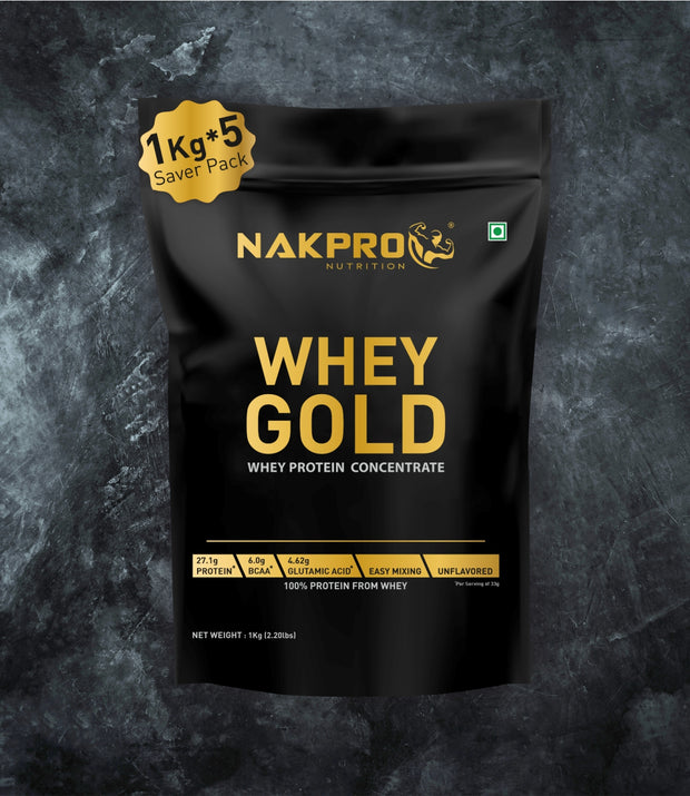 NAKPRO Nutrition whey protein concentrate whey protein powder 5 Kg unflavored