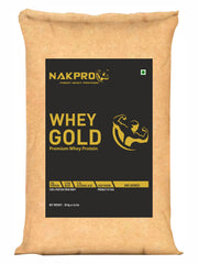 Nakpro Gold Whey Protein Concentrate 80% (24g Protein per 30g Serving), Raw Whey Protein Supplement Powder from USA - Unflavoured (5 kg - 166 Servings)