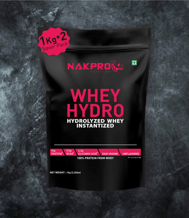 NAKPRO WHEY HYDRO UNFLAVORED 2KG